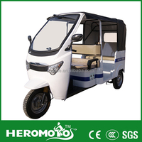 Luxury Electric Tricycle For Adult Taxi Rickshaw 60V 1000W Brushless Motor