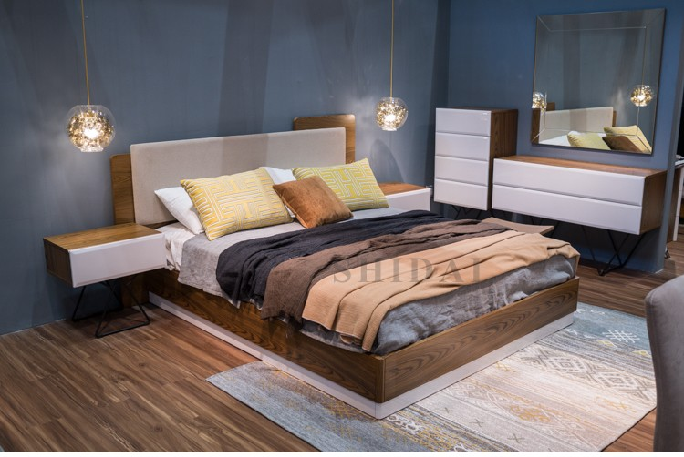2017 Latest New Model Bedroom Furniture Wooden Designs ...