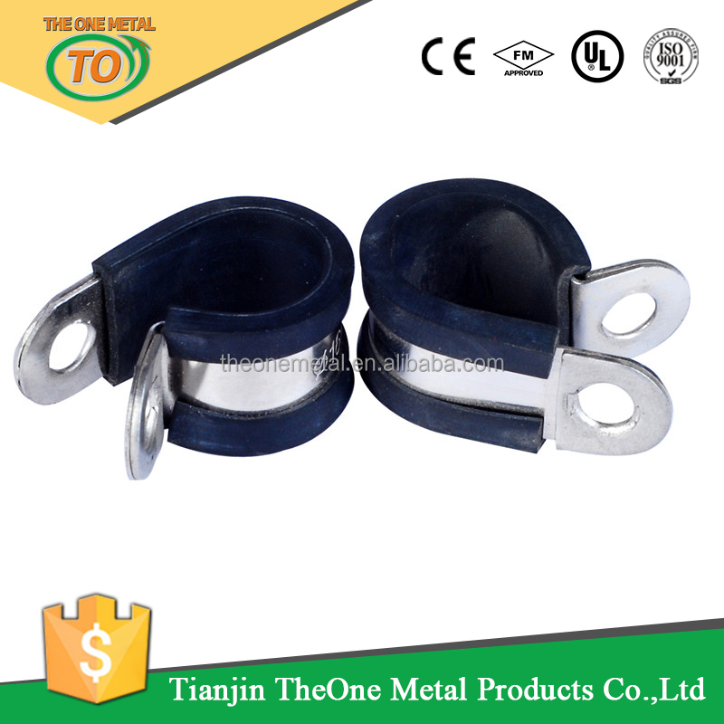 Type Rubber Lined Rubber Coated Retaining Hose Clamps/clips