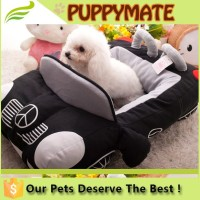 Deluxe Cute and Cozy Car Shape Luxury Pet Dog Bed, Car Shaped Plush Pet Dog Bed