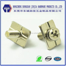 M4x8 Pan head sems screw with square washer attached for furniture
