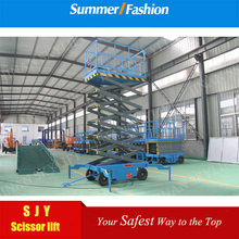 Four wheel electric outdoor elevator scissor lift platform