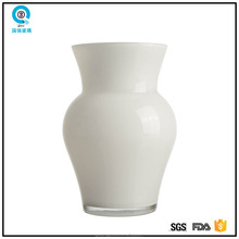 Wedding White hand blown Glass ball vase