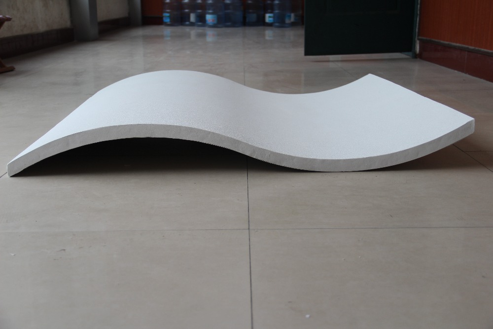 curve / curved suspended / hanging fiberglass acoustic ceiling tile