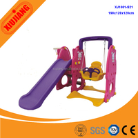 Plastic school kids swing sets with slide for sale