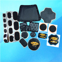 Rubber tire puncture repair patch
