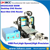OKACC factory price 800w spindle motor 4 axis USB2.0 port desktop cnc router machine, cnc router metal cutting machine