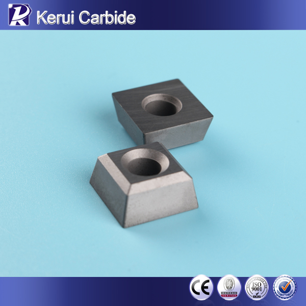 Positive and negative carbide insert with 8 corners for chain saw cutting machine in quarry