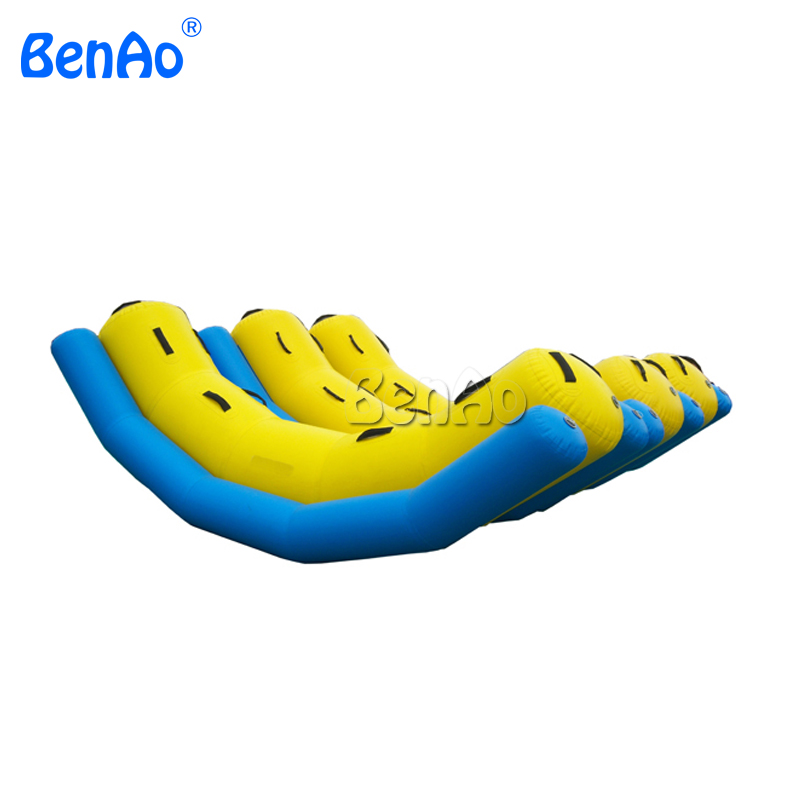 W091 Giant Pool Inflatable Seesaw, Inflatable Water Totter for up to 4 users Giant Inflatable Floating Water Park for kids