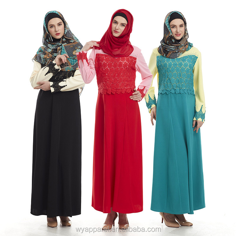 Hot selling beauty malayasia long dress new design muslim dress abaya