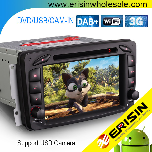 "Erisin ES3763C 7"" Android 7.1 Car DVD Player GPS Navigation DAB+ DVR System for W203 W209 W163 Viano"