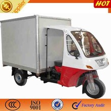 Tengtian Closed Box Cabin Tricycle/steel container used tricycle