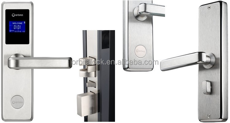 Orbita high security hotel management system door lock with smart cards