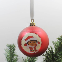 personalised red hot sale decorating christmas big balls