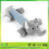 2016 pet shop promotional sound gray elephant squeaky pet toys for dog toy