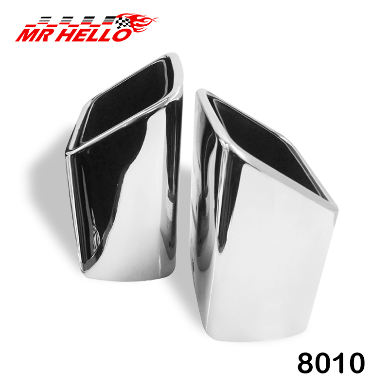 2Pcs <strong>Original</strong> Stainless Steel Exhaust Pipe <strong>Mufflers</strong> For BENZ