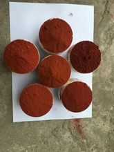 iron red oxide used for polishing jewellery and as a pigment dye