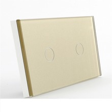 BSEED EU US UK AU 2 Gang 2 Way Wall Light Touch with Glass Panel Sensitive Touch Mirror Switch 2 Gang