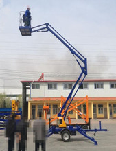 Hydraulic boom lift platform truck mounted articulated lift