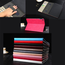 Newest Design Leather Folio Wallet Hand Strap Case Cover for Apple iPad Air 2