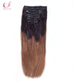 Wholesale Virgin Human Remy Ombre Clip in hair Extension