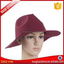 Fashionable ladies vintage fedora fake wool felt hat