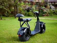 Newest model 18inch fat tyre electric scooter 1000W citycoco double seats with suspension
