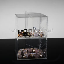 2013 Chrismas High Clear Acrylic Mobile Jewelry Display Case With Lock