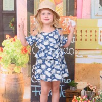 2016 wholesale baby dress one piece Baby Clothing frock design for baby girl dress