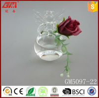 new design hotsell glass vase with hole for decoation