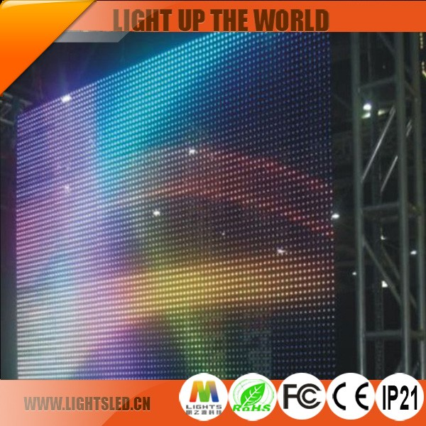 Cheap slim top selling LED curtain P16 P25 P31.25 outdoor transparent led screen led display movable advertising poster boards