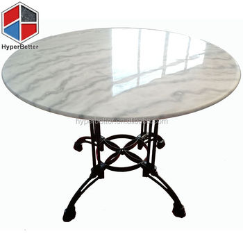 20% discount white carrara marble top round dining table