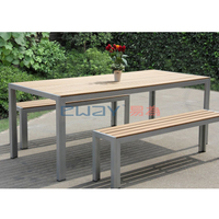 Restaurants long table and bench dining furniture