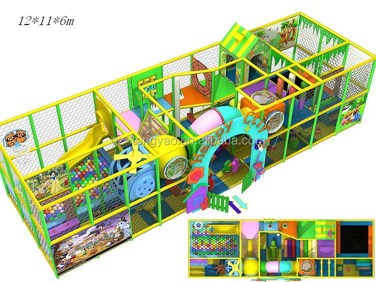 New design small plastic slide amusement indoor playground maze for children