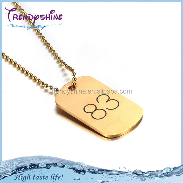 Customized cheap factory price stainless steel 22k gold necklace