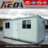 20ft prefab cabin container house hot selling in Qatar market