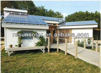 high module efficency and warm price 5KW off grid Solar Power System Home