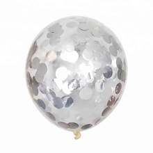 New Design Transparent <strong>12</strong> Inch / 18inch Silver Gold Confetti Latex Ballons