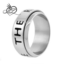 Surgical Steel CTR Spinner Ring 9mm Wedding Band