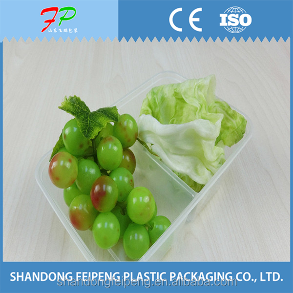 Disposable clear box for food packaging
