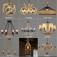 american country style vintage hemp rope chandelier for coffee house/restaurant/bar (ns-125002)