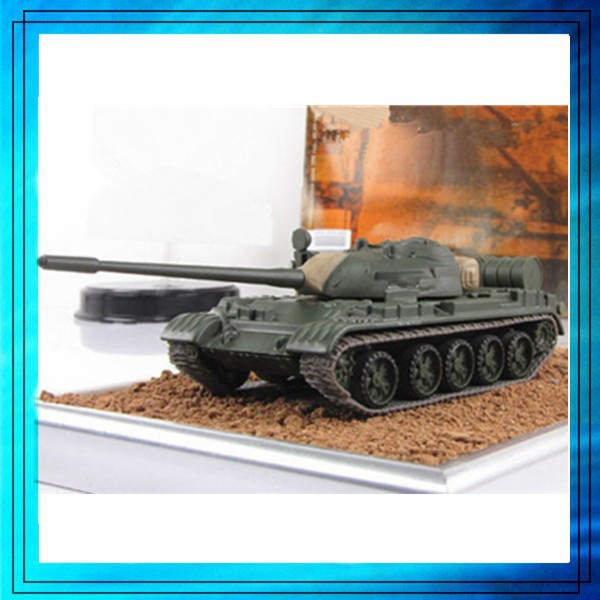 Die Cast Tank Model With Assorted Items, scale Die cast metal miniature tank model, T025 die cast T-55A-1968 model tank