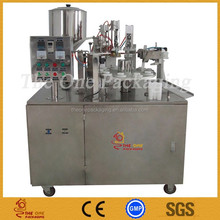 aseptic hot filling yogurt and milk filling sealing packing machine in pouch with cap
