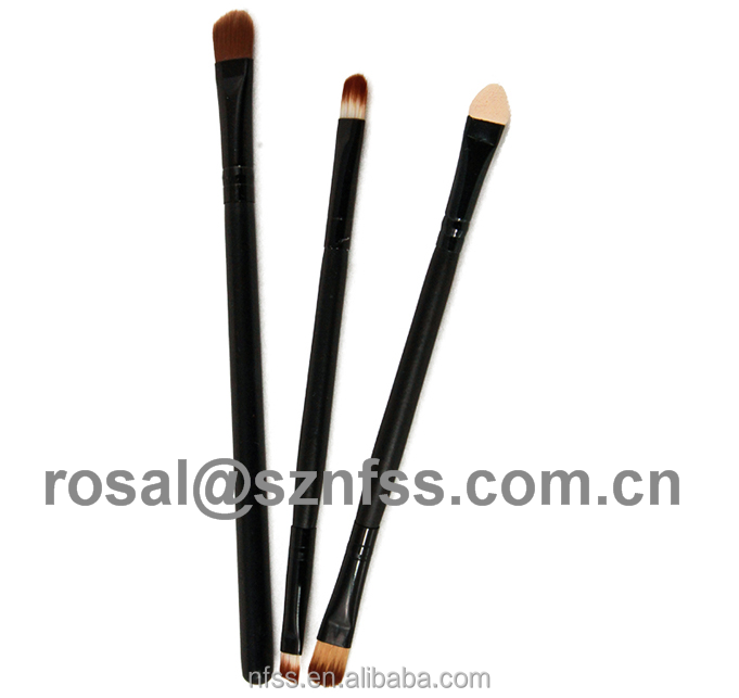 Double End Eye Shadow Blending brush , Private Label Duo Eyeshadow Brush ,Nylon Hair Eyeshadow Smudge Brush