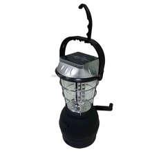 Emergency dynamo 36leds lithium battery solar Lantern with mobile charging