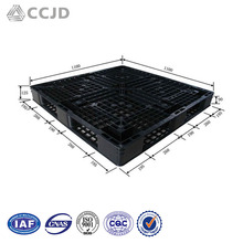 1100x1100 Black Light Duty Use Plastic Pallet Price for Sale