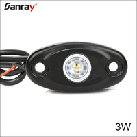 waterproof IP68 high/low 2 inch 3W LED deck light on boat