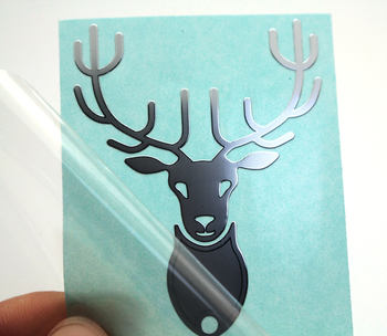 Custom silver adhesive nickel metal sticker logo