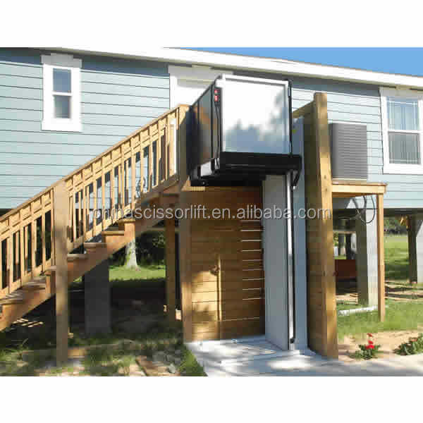 5m high quality hydraulic disabled wheelchair lift platform for home