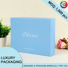 2017 new design luxury shipping wrap paper clothing box